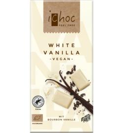 iCHOC : Witte Chocolade Vanille 80gr - Vegan - Biologisch - Plasticvrij