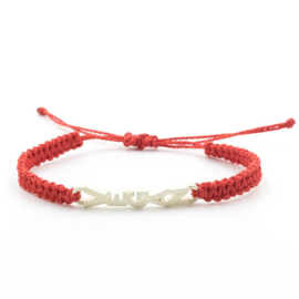Evig Grön Vegan Tree Bracelet Red And Recycled Silver
