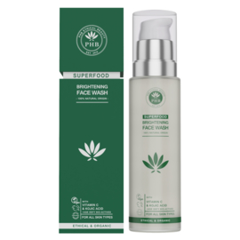 PHB Ethical Beauty : Superfood Brightening Face Wash 100ml - Vegan - Biologisch - Halal