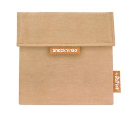 Boc'n'Roll : Snack'n'Go Nature Bruin - Herbruikbaar - Uitwasbaar - Eco - Lunchverpakking