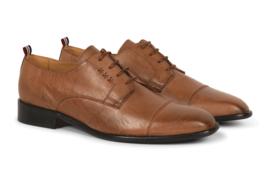 Gentleberg Albert – Cap Toe Derby Cognac Tan Vegan Leather Shoes