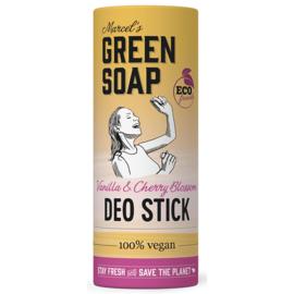 Marcel's Green Soap : Deo Stick Vanille & Kersenbloesem 40g - Biologisch - Plasticvrij - Vegan - Eco