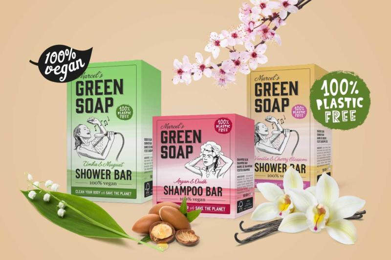 Marcel's Green Soap : Shower Bar Argan & Oudh 150g - Plasticvrij - Vegan - Biologisch Afbreekbaar