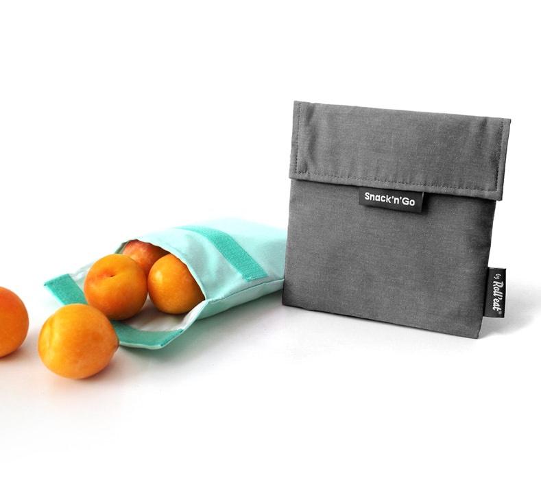 Boc'n'Roll : Snack'n'Go Nature Zwart - Herbruikbaar - Uitwasbaar - Eco - Lunchverpakking