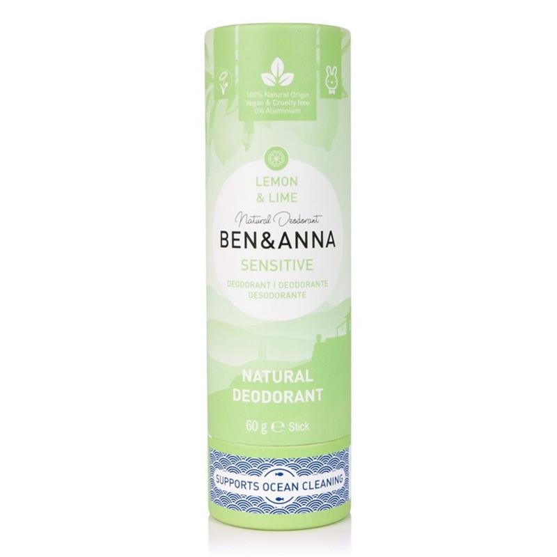 Ben & Anna Sensitive Lemon & lime 60 Gram Organic Vegan Plastic Free deodorant