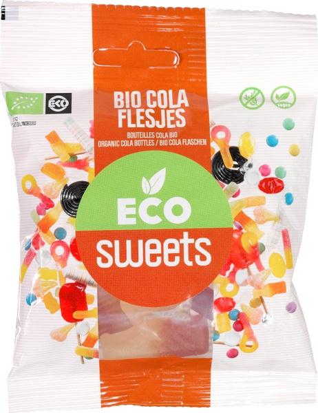 Eco Sweets : Gom Cola Flesjes 75gr - Vegan - Biologisch - Plasticvrij