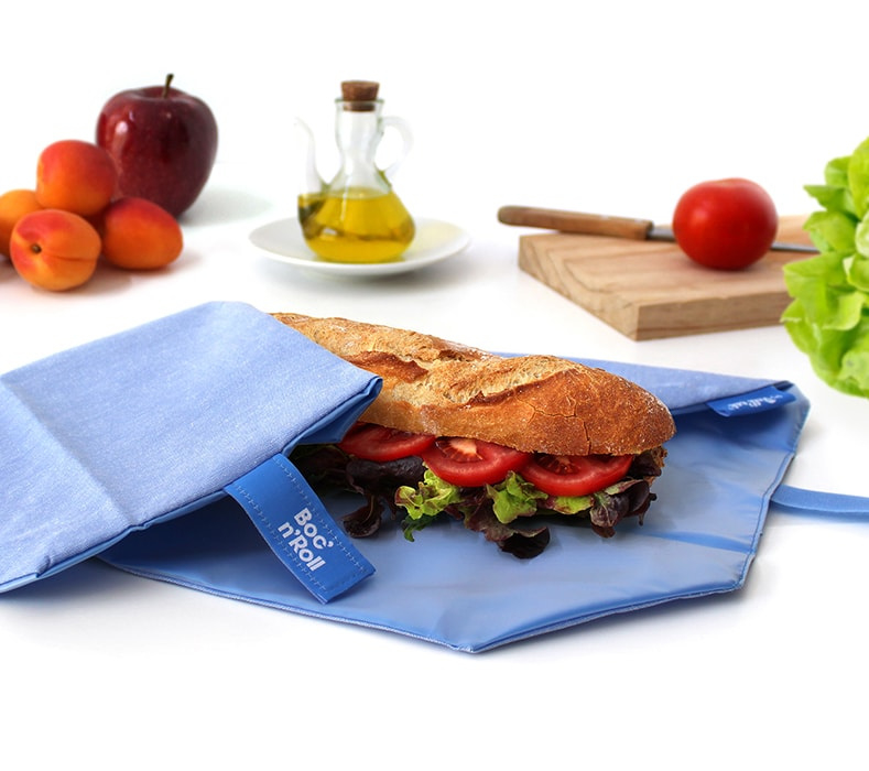 Eco Nature Boc'n'Roll blauw herbruikbare lunchverpakking van Roll'eat