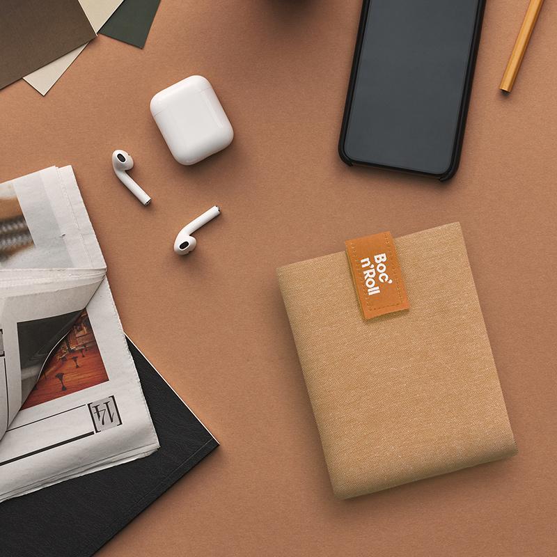 Eco Nature Boc'n'Roll bruin herbruikbare lunchverpakking van Roll'eat