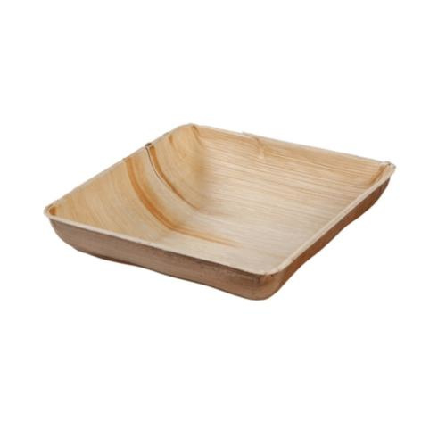 Palmware® : vierkant diep palmblad bord 23 x 23 cm 600ml  - Biologisch afbreekbaar - Fair Trade - Ecologische