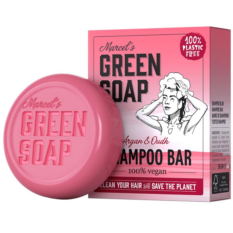 Marcel's Green Soap : Shampoo Bar Argan & Oudh 90g - Plasticvrij - Vegan - Biologisch Afbreekbaar