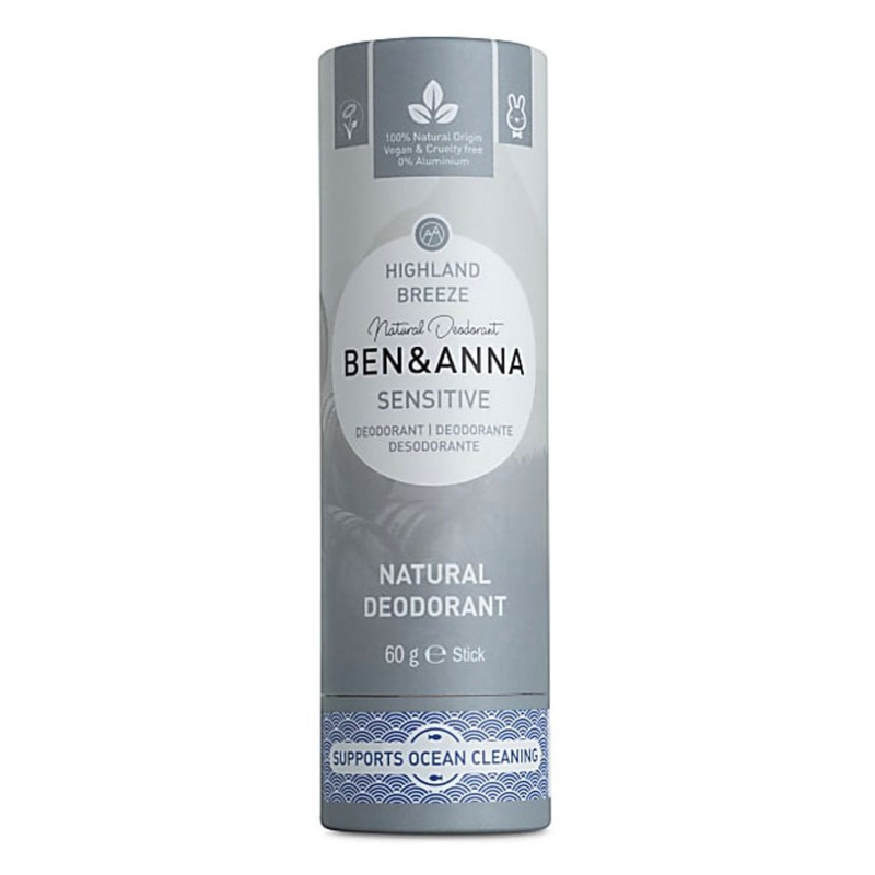 Ben & Anna Sensitive Highland Breeze 60 Gram Organic Vegan Plastic Free deodorant