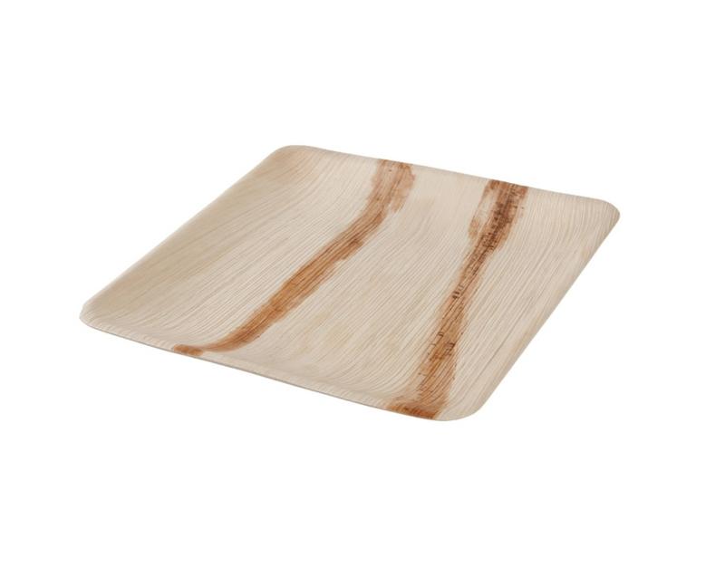 Palmware® : vierkant palmblad bord 25 x 25 cm - Biologisch afbreekbaar - Fair Trade - Ecologische