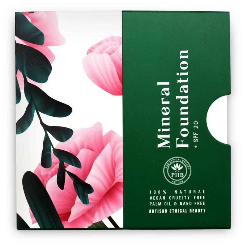 PHB Ethical Beauty : Pressed Mineral Foundation Tan SPF 20 - 16 gram - Vegan - Biologisch - Halal