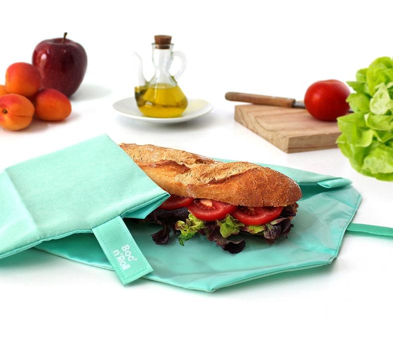 Eco Nature Boc'n'Roll mint herbruikbare lunchverpakking van Roll'eat