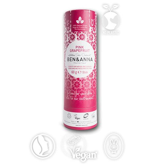 Ben & Anna Pink Grapefruit Organic Vegan Plastic Free deodorant