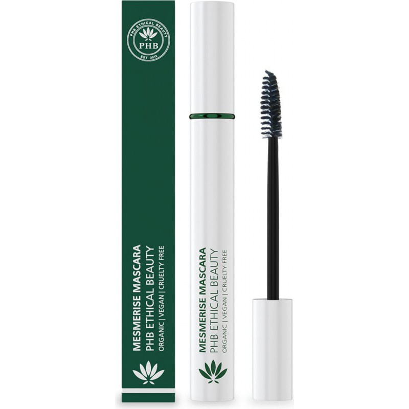 PHB Ethical Beauty : Mesmerise Waterproof Mascara Zwart 9 gram - Vegan - Biologisch - Halal