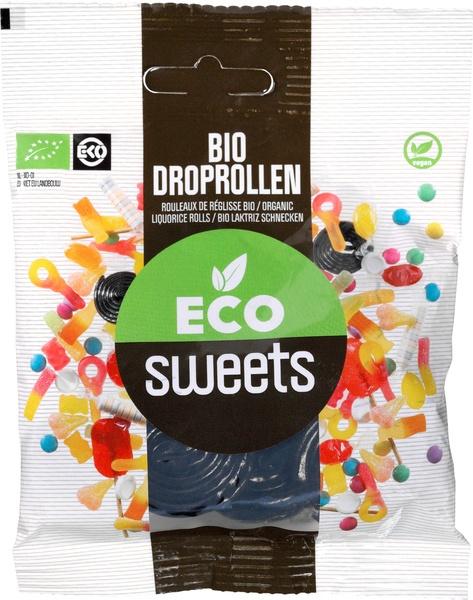 Eco Sweets : Droprollen 75gr - Vegan - Biologisch - Plasticvrij