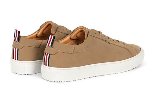Gentleberg : Sneaker Govert Zand - Vegan Leren Schoenen - Duurzaam geproduceerd in Europa