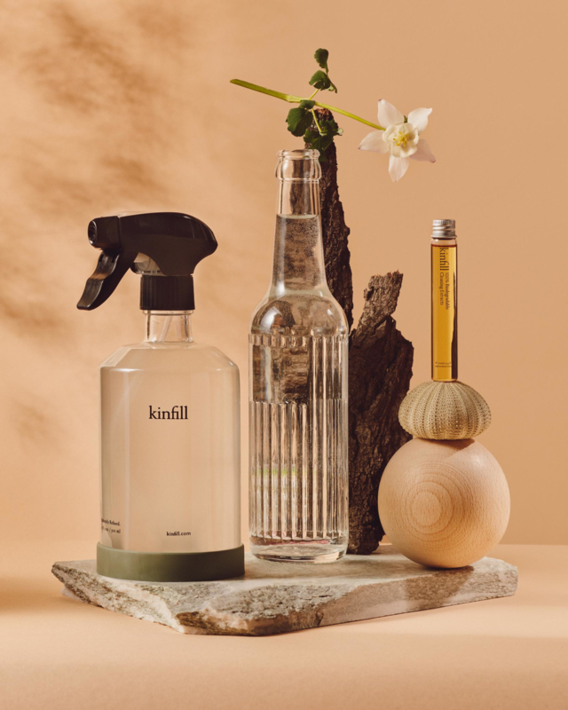 Kinfill Homecare : Multi Surface Spray Set | Biodegradable Eco Vegan Low Waste Glas Bottle Cleaning Products