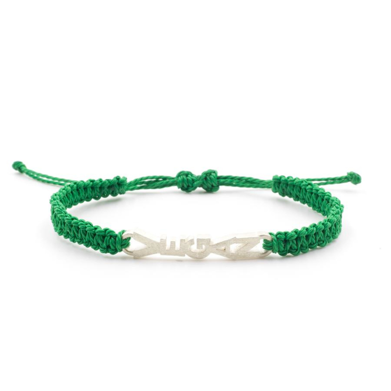 Evig Grön Vegan Tree Bracelet Green And Recycled Silver