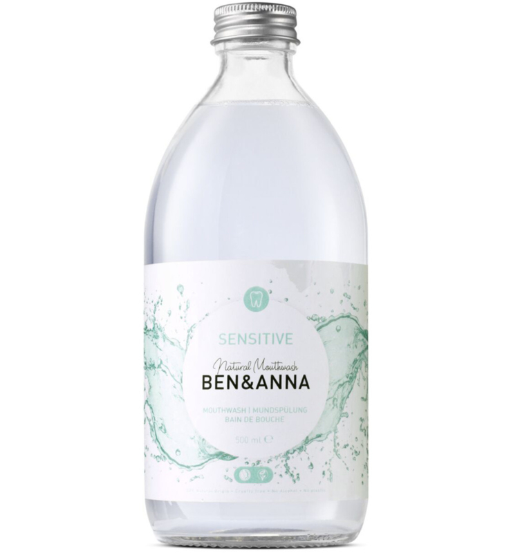 Ben & Anna Sensitive Mouthwash 500ml Natural Vegan Plastic Free