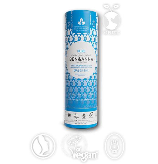 Ben & Anna Pure Geurloze Organic Vegan Plastic Free deodorant