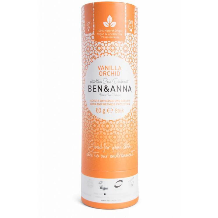 Ben & Anna Vanilla Orchid 60 Gram Organic Vegan Plastic Free deodorant