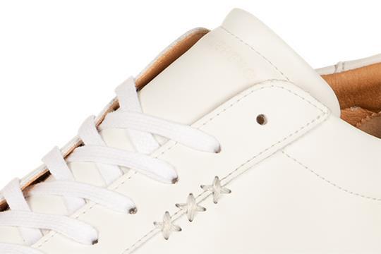 Gentleberg : Sneaker Dirk Wit - Vegan Leren Schoenen - Duurzaam geproduceerd in Europa