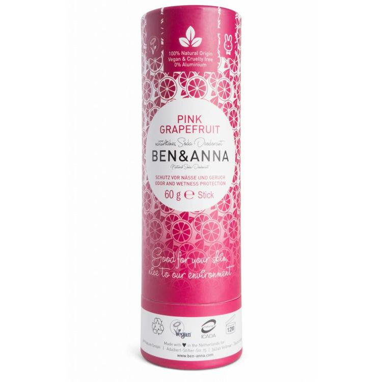Ben & Anna Pink Grapefruit 60 Gram Organic Vegan Plastic Free deodorant