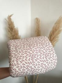 Roze blaadjes tricot | per halve meter