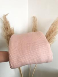 Roze stip tricot | per halve meter