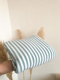 Streepjes lichtblauw/wit tricot | per halve meter