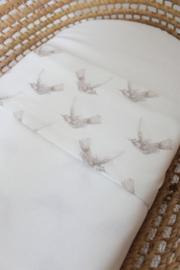 Wieg/ledikant laken birds