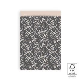 Verzendzakjes dots grijs/beige - 5 stuks