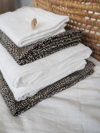 Wieg/ledikant laken leopard sand