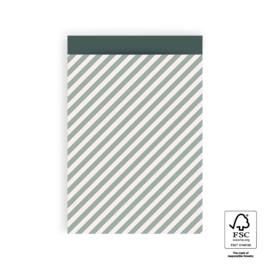 Verzendzakjes streepjes blauw/groen - 5 stuks