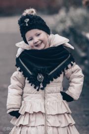 Handgemaakte  sjaal - Zwart