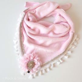 Handgemaakte  sjaal - Roze