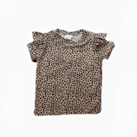 Shirt tiger ruffle