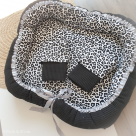 Babynestje Tweeling leopard - Grote vlekken