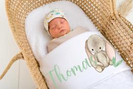 Baby deken Konijn blad
