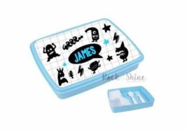 Lunchbox XL Monsters - blauw