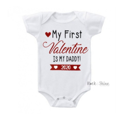 Romper My first valentine