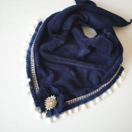 Handgemaakte  sjaal - Navy