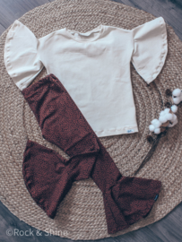Outfit  - Flared roest luipaard