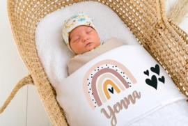 Baby deken Regeboog hartjes