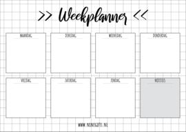 Free Printable - Weekplanner