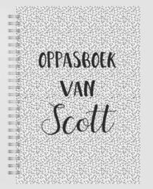 Oppasboek met naam
