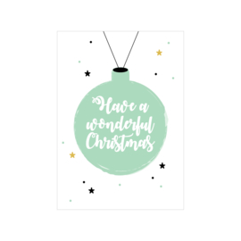 Kerstkaart | Have a wonderful Christmas