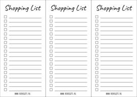 Free Printable - Shopping List